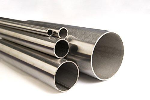 Ø 12 x 1,5mm bis Ø 114,3 x 2mm Edelstahlrohr Rundrohr V2A K240 geschliffen Edelstahl Rohr bis 2 Meter (2000mm) Länge frei wählbar (Ø 114,3 x 2mm (Länge 750mm))