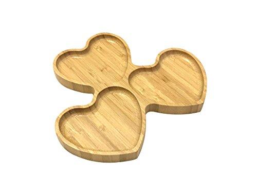 bambum b0126moramor-heart Form 3Teil Snack Teller, braun