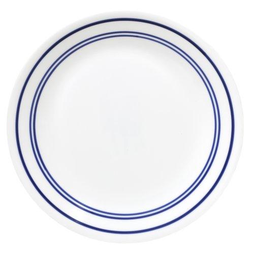 Corelle Livingware 8-1/2-Inch Luncheon Plate, Classic Cafe Blue by CORELLE (Classic Cafe Corelle)