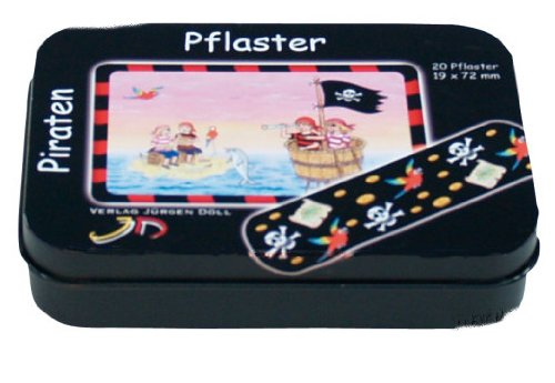 KINDERPFLASTER Piraten Dose 20 St Pflaster