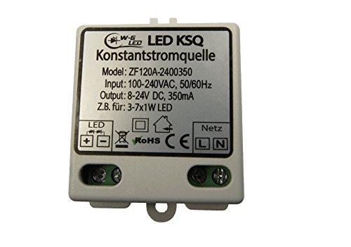 LED-Konstantstromquelle-Treiber-350mA-(8-24V)-KSQ_für z.B. 3-7x 1W LED