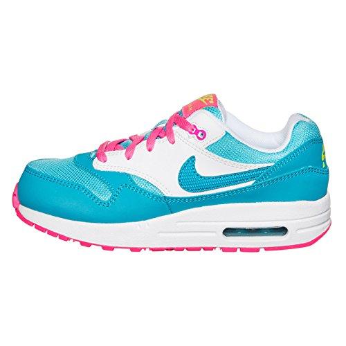 Nike - Air Max 1 (Ps), Sneakers infantile Multicolore (Blau Weiss)
