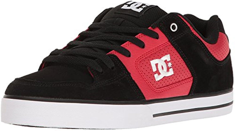 DC Men'S Pure Action Sport Sneaker, Rojo/Negro, 40.5 D(M) EU/7 D(M) UK