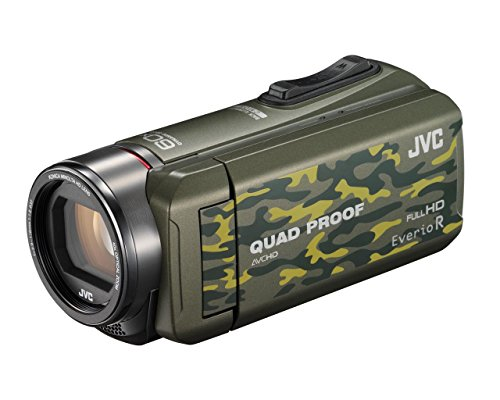 JVC GZ-R415WEK 10 MP 40x Zoom HD Memory Quad Proof Camcorder - Green