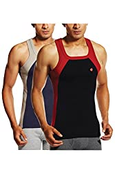 ONN NS523 Mens Assorted Cotton Sports Vest Pack of 2 (X-Large)