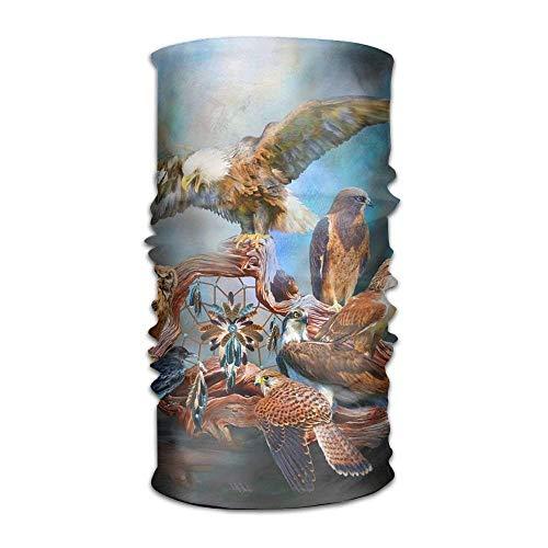 Peregrine Falcon Vintage Hawk Print Headwear For Men And Women-Yoga Sports Travel Workout Wide Headbands,Neck Gaiter,Bandana,Helmet Liner,Balaclava,Hair Turban,Scarf