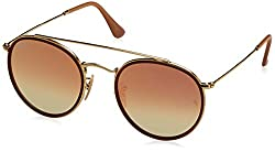 Ray-Ban Mirrored Phantos Unisex Sunglasses - (0RB3647N001/7O51|51|Gradient Brown Mirror Pink Color)