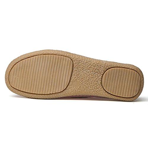 Z.SUO Mocassins Femmes En Cuir Casuel Confort Chaussures Plates Loafers Chaussures de Conduite Rose