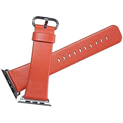 Apple Watch Band, Foval cinturino in pelle da polso banda con adattatore chiusura in metallo per Apple Watch 38mm