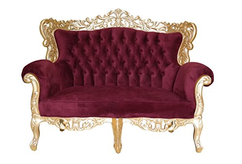 Barock Sofa Grande 3-Sitzer gold/bordeaux