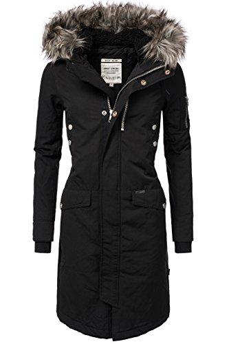Khujo clivi 2016lungo cappotto da donna invernale Cotone nero M
