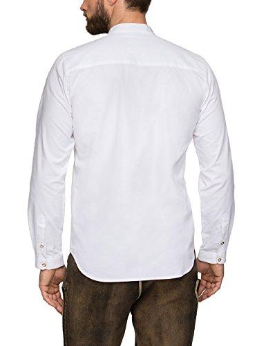 Stockerpoint Herren Trachtenhemd Leon, Weiß (Weiß), Large - 2