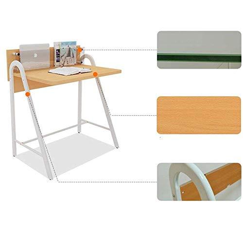 DEED Kleiner Tisch Haushalt mit Schubladen PC Laptop Studie Büro Schreibtisch Workstation für Home Office Einfache Moderne Schlafzimmer einfache Studie Tabelle,Ohne Schublade,Buche -