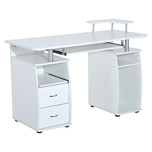 HOMCOM U2013 Büro /Computertisch, PC Holz Schreibtisch, Für Zuhause,