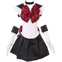 H de 6007Sailor Moon Black White Pluto Disfraz Cosplay Costume vestido Dress Anime kawaii de Story