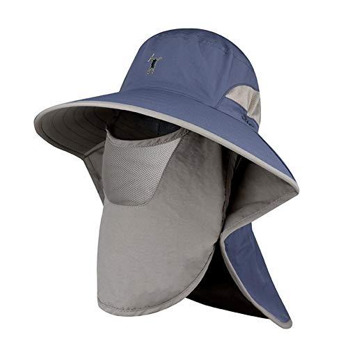 Gorgeousy Sonnengeschützter wasserdichter Hut mit breiter Krempe, männlicher UV-Schutz, Schattenfischerhut mit Netz-Gesichtsschutz, superdünner, schnell trocknender Hut von Booney -