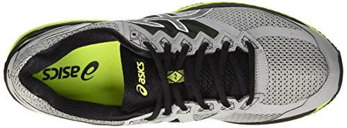 Asics Gt-2000 4, Entraînement de course homme Grigio (Midgrey/Black/Safety Yellow)