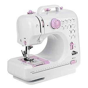 Uten Nähmaschine Mini Elektrische Klein 12 Nähprogramme Haushaltsgeräte, für Anfänger Kinder DIY Begeisterte(505)