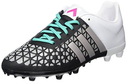 adidas Unisex-Kinder Ace 15.3 Fg/Ag Fußballschuhe, Schwarz (Core Black/Matte Silver/Shock Mint S16), 38 EU