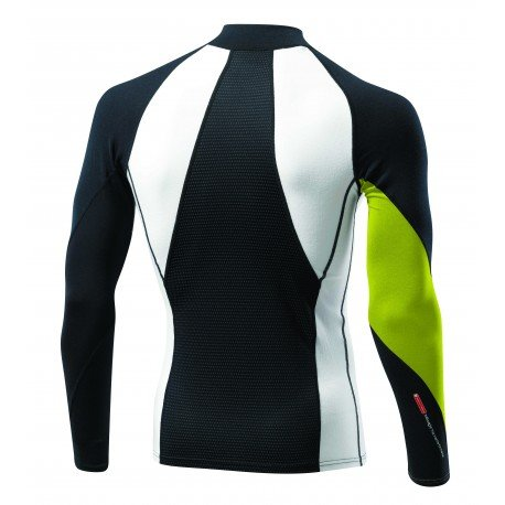 Mizuno Bt Virt.Body G1 H/Zip, T-Shirt da Corsa Uomo Black / Lime