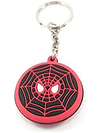 Key Era Double Sided Spiderman Logo Multicolour Rubber Keychain & Keyring For Bikes, Cars, Bags, Home, Cycle,...