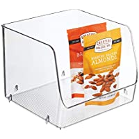 InterDesign Linus cajoneras de plástico XL | Organizador armarios para alimentos o utensilios de cocina |