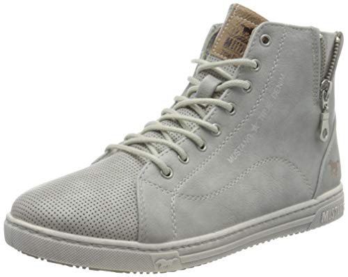 MUSTANG Damen 1349-501-22 Hohe Sneaker, Grau (Hellgrau 22), 39 EU