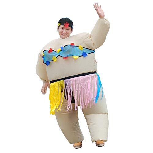 Mädchen Hula Aufblasbare Kostüm - LSGNB Cosplay Sumo Hula Inflatables Lustiges großes Fettes Partyleistungsstützenkostüm Erwachsenabnutzung