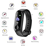 Harikrishnavilla Men's and Women's Bracelet Watch with Health Band and Activity Tracker (Black, Medium)