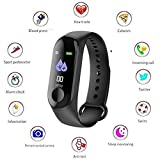 Frizzer M3 Band Smart Wristband Fitness Tracker Heart Rate Monitor Instant Message Incoming Call Alert Waterproof 5ATM OLED Touch Screen Weather Forecast 30 Skills. Weight is only 20gm wechat, caller and other content display; temperature changes wit...