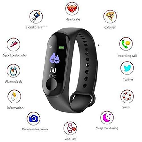 Kiddu Collection M3 Intelligence Bluetooth Health Wrist Smart Band Watch (Black)
