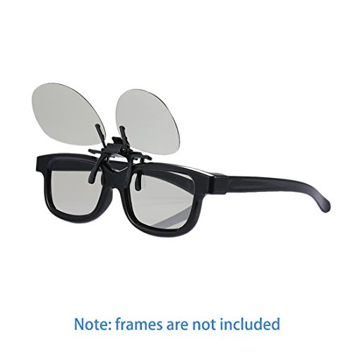 2pair 3D Clip auf Gläser - für RealD Kino und passive 3D Fernseher wie LG
