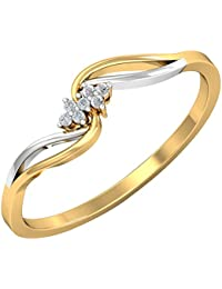 Kuberbox Yellow Gold and Diamond Ring