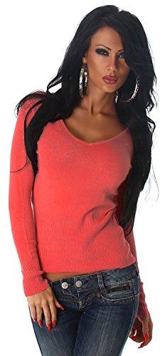 Luxestar Damen Pullover einfarbig Einheitsgröße (32-38) Apricot