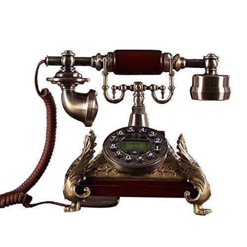 ZJQ Teléfono Retro nórdico Pantalla Teléfono Antiguo