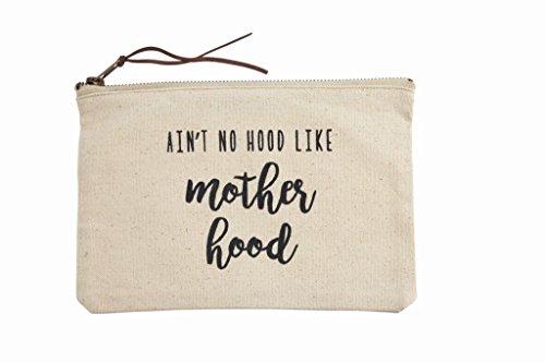 Mud Pie Women's Fashion Mother Mom Case (Motherhood) Canvas Pouch, One Size, Off White Mud Pie Fashion