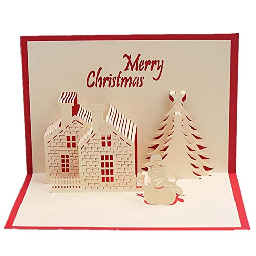 Mitlfuny✈✈✈3D-Weihnachtskarte Pop-Up-Karte Lustiger Einzigartige 3D-Feiertags-Postkarte Geschenk Weihnachten Religion -