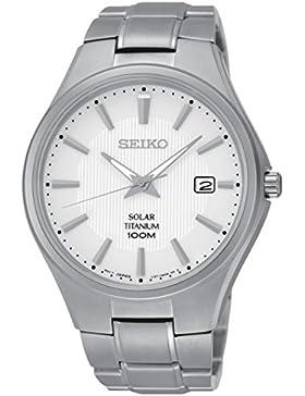 Seiko Herren-Armbanduhr Analog Quarz Titan SNE375P1