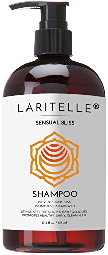 Laritelle Organic Shampoo 16 oz | Hair Loss Prevention, Clarifying, Strengthening, Follicle Stimulating | Argan Oil, Rosemary & Palmarosa | NO GMO, Sulfates, Gluten, Alcohol, Parabens, Phthalates -