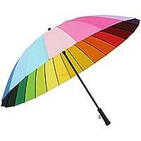 ssby Palo in acciaio inox, manico extra grande arcobaleno Ombrelli 24K, antivento uomini e donne osso creative ombrelli