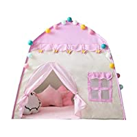 Sunniy Kids Play Tent,Princess Castle Tent Large Playhouse Kids Castle Play Tent 1-6 Years Children Indoor Toy House Kids Pop Up Tent 51.1851.18in For Girls Birthday Gift