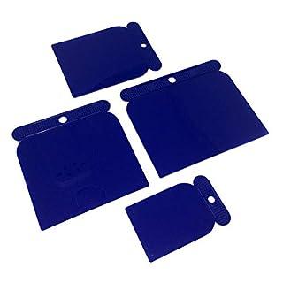 Spachtel Set 4-teilig Kunststoff Spachtel Set 4-teilig, Ideal für Auto, Gipskarton und Streichmesser Putz, Klebemontage, Flexibel und Säurefest 50mm 80mm 100mm 120mm 4 Stuck