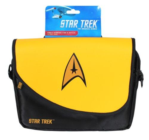 ORB Star Trek Umhängetasche/ Messenger Bag für Notebooks mit bis zu 10Zoll/ 25,4cm, Gelb (Case Badges Laptop)