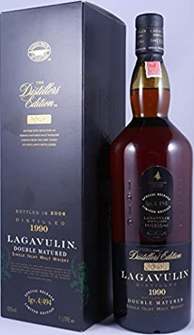 Lagavulin 1990 The Distillers Edition 16 Years Double matured in Pedro Ximenez Sherry Wood Special Release Single Islay Malt Whisky lgv.4/494 - 1,0L