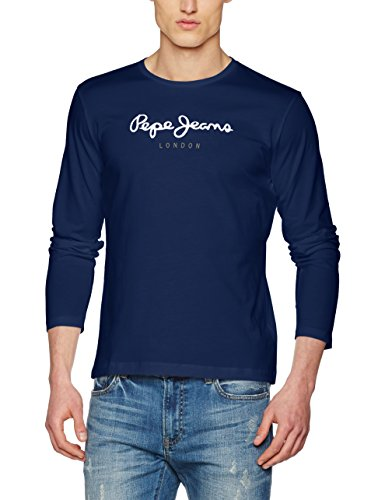 Pepe jeans eggo long pm501321, t-shirt uomo, blu (navy), small