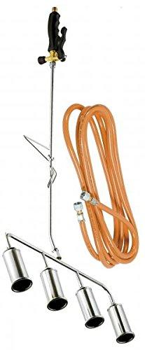 Ribiland - prox583955 - Désherbeur thermique 4 bruleurs 45mm + tuyau 5m SUPERBIOPROFLAMME