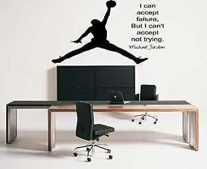 Large Michael Jordan Inspirational autocollant de décalque de mur de vinyle Quote Vinly Decal Wall Mural Art