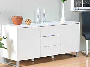 kommode toronto schubladenkommode sideboard highboard schrank wei hochglanz k che. Black Bedroom Furniture Sets. Home Design Ideas
