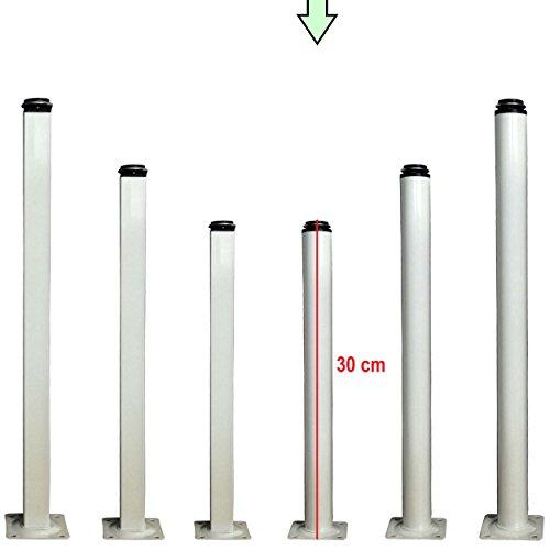 Möbelfüße verstellbar aus Metall - vielseitig einsetzbare Füße für Möbel Sofa Schrank Tisch - verschiedene Größen (30cm, Rund) - 30 Runden Tisch