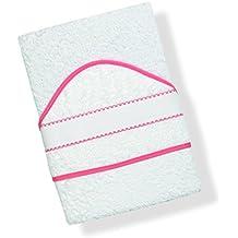 ... con cenefa para dicha aplicación. INTERBABY, Toalla de baño bordado de punto de cruz, blanco/rosa (blanco